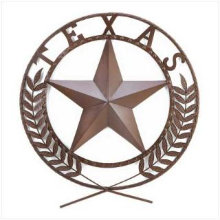 Texas Star Lone Star State Cowboy Hanging Wall Plaque Room Decor