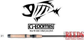 Loomis Classic Bass Spin Jig Rod 6 Medium Fast SJR722 IMX
