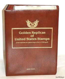 22kt Golden Proof Replicas United States Stamps Album