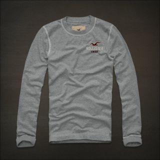 Hollister HCO Hermosa Men's Long Sleeve Soft Vintage Cotton T Shirt