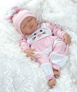 Lifelike Baby Doll Baby Cottontail 19 in Vinyl Weighted Body