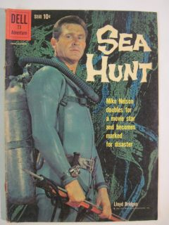 HUNT #4 JAN MARCH 1960 DELL TV SCUBA DIVER LLOYD BRIDGES PHOTO COVER