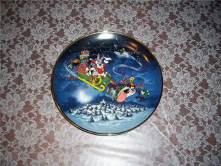 Looney Toons Collector Plate Whats Up Santa Mint 93