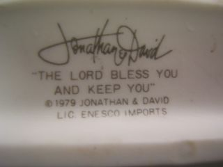 Enesco Jonathan David Lord Bless and Keep You Figure