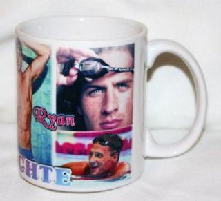 Ryan Lochte Ceramic Coffee Mug 6 Photo Collage of The Olympic Swimming