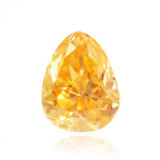 Carat Fancy Intense Yellow Color Pear Natural Loose Diamonds
