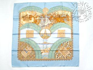 Hermes 2005 Gloire DAlexandre Blue Multi 90cm Scarf