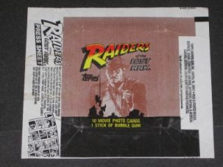 1981 Topps Raiders of The Lost Ark Card Set Wrapper◆