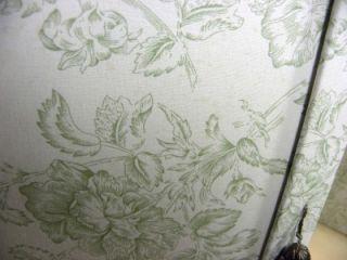 Lori Greiner Makeup Organizer Green Ivory Floral Print New