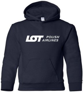 Lot Polish Airlines Retro Logo Polish Airline Hoody