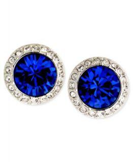 Givenchy Earrings, Imitation Rhodium Tone Crystal Stud Earrings