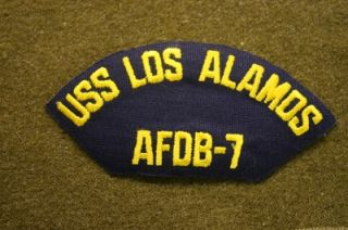 5224 Navy SHIP Cap Patch Tab USS Los Alamos