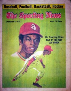 St Louis Cardinals 1975 Lou Brock Player of The Year MVP Feature