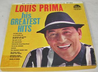 Louis Prima His Greatest Hits Reel to Reel Tape Bel CANTO St 103