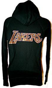 La Los Angeles Lakers Bling Womens Thermal Hoodie SM 3X
