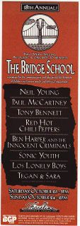 Nice Mint Neil Young Paul McCartney Bob Dylan Handbill