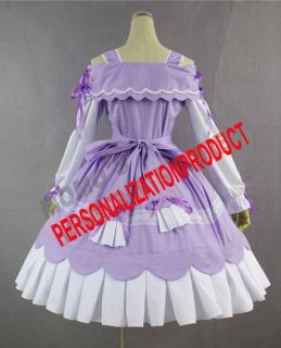 Southern Belle Gothic Lolita Lavender Cosplay Knee Length Dress