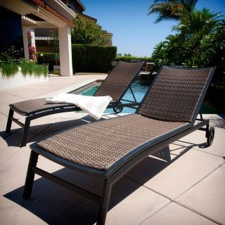 Sale Luxor Outdoor Lounge Chaises Chairs Loungers 2pc Set