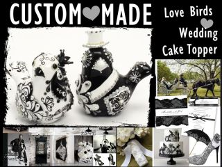 Love Birds Wedding Cake Topper Custom Made Your Wedding Color Handmade