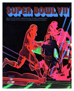 Super Bowl VII 1973 Miami Dolphins vs Washington Redskins Huge Poster