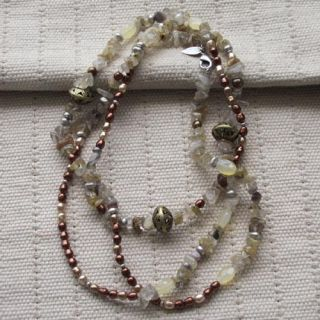 Creek Chain Necklace Xmas Gift Vintage Genuine Loose Stone