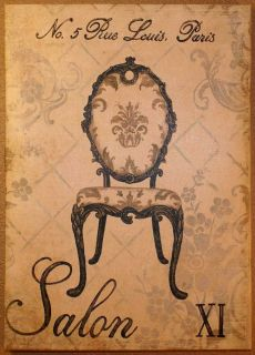 Canvas Framed Rue Louis Paris Picure Salon XI French