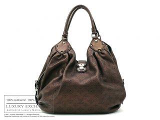 Authentic Louis Vuitton Mahina L Bag Mordore
