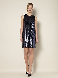 Untold Sequin shift dress Navy