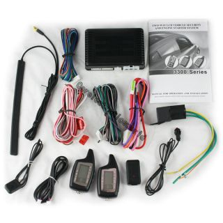 Two Way Car Alarm Engine Starter Automatically Open Close Windows