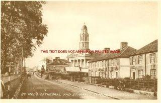 Longford St Marys Terr Old BW Irish Photo 14 x 11 Mntd