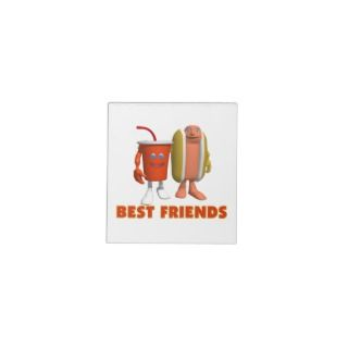 Best Friends Hot Dog & Soda Notepads