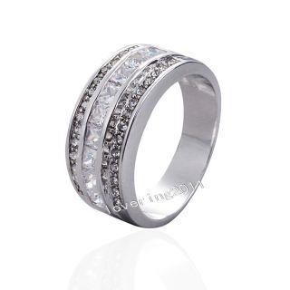 Size 8 11 Jewellery Men Women 10KT White Gold Filled Diamonique