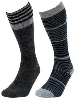 LORPEN Socks Merino Wool Over The Calf Gun Metal 2 Pairs