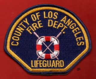 Los Angeles California Fire Dept Lifeguard Patch