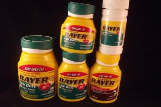 Genuine Bayer Asprin Aspirin 81mg Low Dose or 325mg 100 to 300 Count