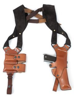 Front Line Shoulder Full Leather Glock Shoulder Holster