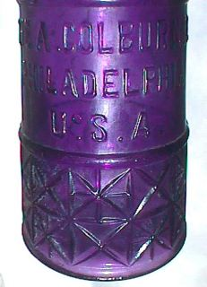Beautifully Ornate Deep Purple Colburn Co Pepper Sauce Antique Bottle