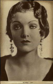 Actress Myrna Loy c1915 Printed Postcard