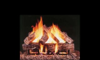 Vented Fireplace Gas Logs Complete Set Natural Gas or Propane
