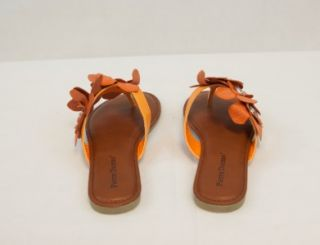 New Pierre Dumas Womens Orange Flower Design Lorna 1 Sandals