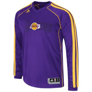 Los Angeles Lakers Adidas 2012 2013 Authentic on Court Long Sleeve