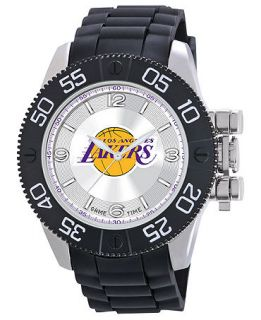 Game Time Watch, Mens Los Angeles Lakers Black Polyurethane Strap
