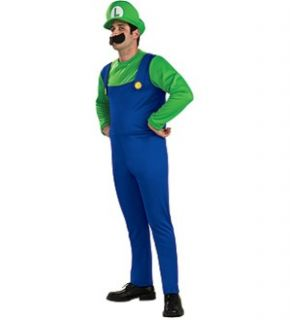 Super Mario Bros Luigi Costume Adult Small Brand New