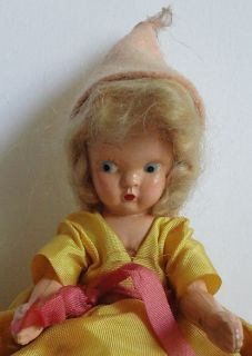 Plastic 1940s Virga Storybook Doll Lucy Locket Lost Her Pocket Outfit