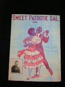 Sweet Patootie Sal Vintage 1919 Black Americana Sheet Music Great