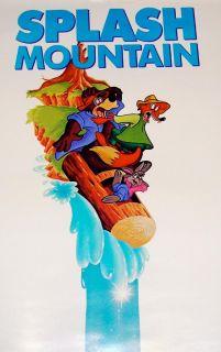 Walt Disney World Splash Mountain RARE 1992 Park Poster