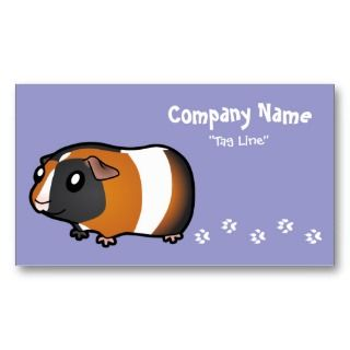 Cartoon Guinea Pig (tortoiseshell 2) business cards by SugarVsSpice