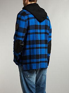 Polo Ralph Lauren Plaid hooded shirt Blue