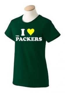 Love The Packers Womens Green T Shirt Funny New
