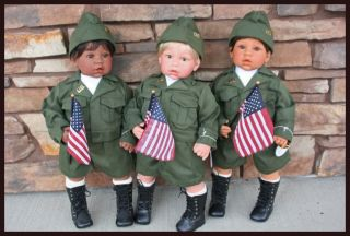 Lee Middleton Doll for Love of Country Complete Set AA Light Medium